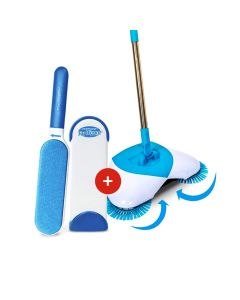 Kit de limpieza 1 Hurricane Spin Broom y 1 Hurricane Fur Wizard