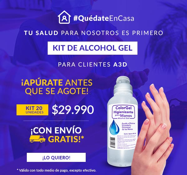 Kit 20 Unidades Alcohol Gel