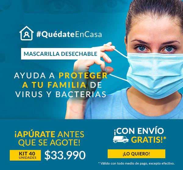 Mascarilla desechable A3D 40 und